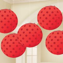 Apple Red Paper Lanterns 12cm (5)